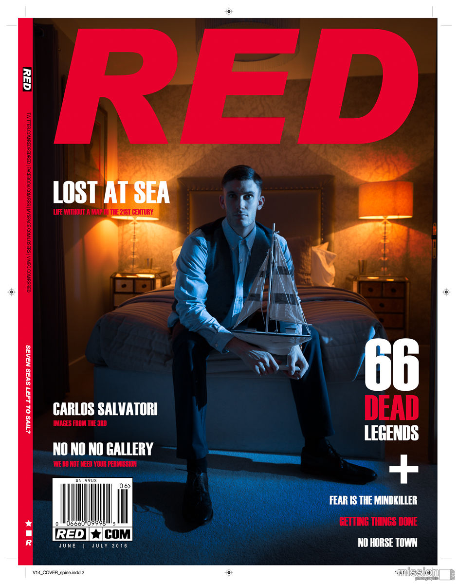 'Red' Magazine Concept cover