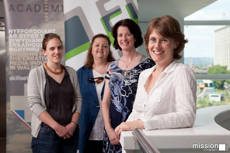 Film Agency delegates at Cardiff Atrium