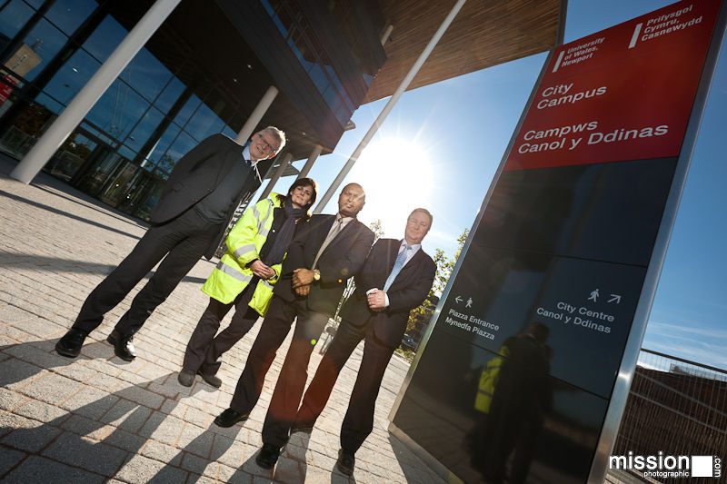 UWN dignitaries receive new campus from developers