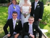 Wedding group brides family